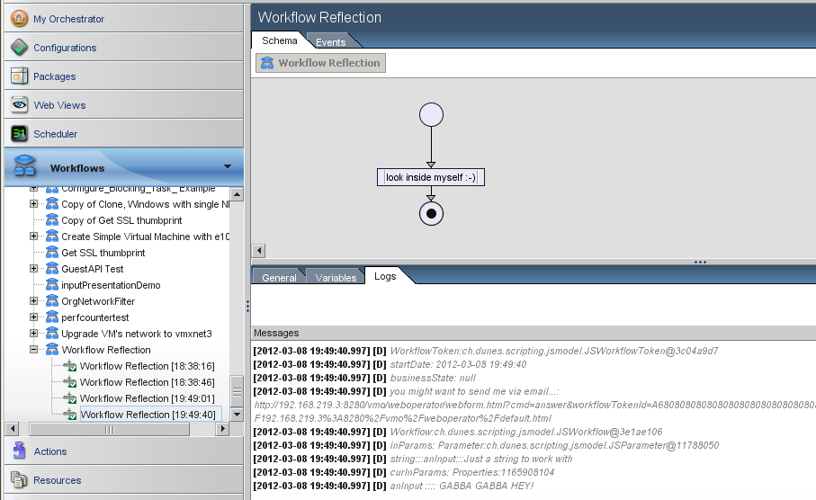 The Philosopher's Stone of vCO: Workflow Reflection
